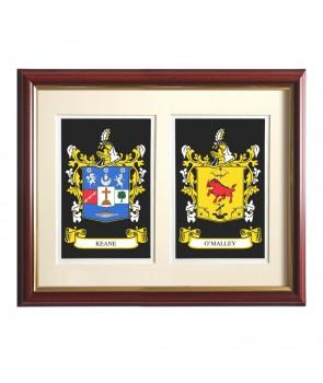 Double Heraldic Mount Framed